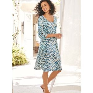Soft Surroundings Mercado Gauze Dress Watercolor